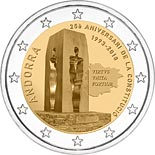 2 euro coin 25th anniversary of the Constitution of Andorra | Andorra 2018