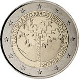 2 euro coin 70 years of the Universal Declaration of Human Rights | Andorra 2018