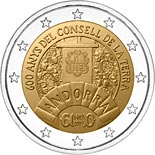 2 euro coin 600 Years of the General Council | Andorra 2019