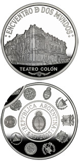 25 peso coin Architecture and monuments - The Colón Theater Building | Argentina 2005
