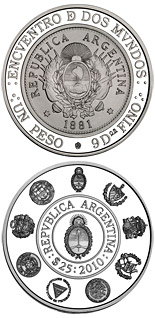 25 Australes  Historic Ibero-American Coins – Patacón - 2010 - Series: Ibero-American Series - Argentina