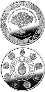25 peso coin 20th Anniversary of the Ibero-American Series | Argentina 2012