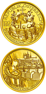 100 euro coin The crown of Bohemia  | Austria 2011