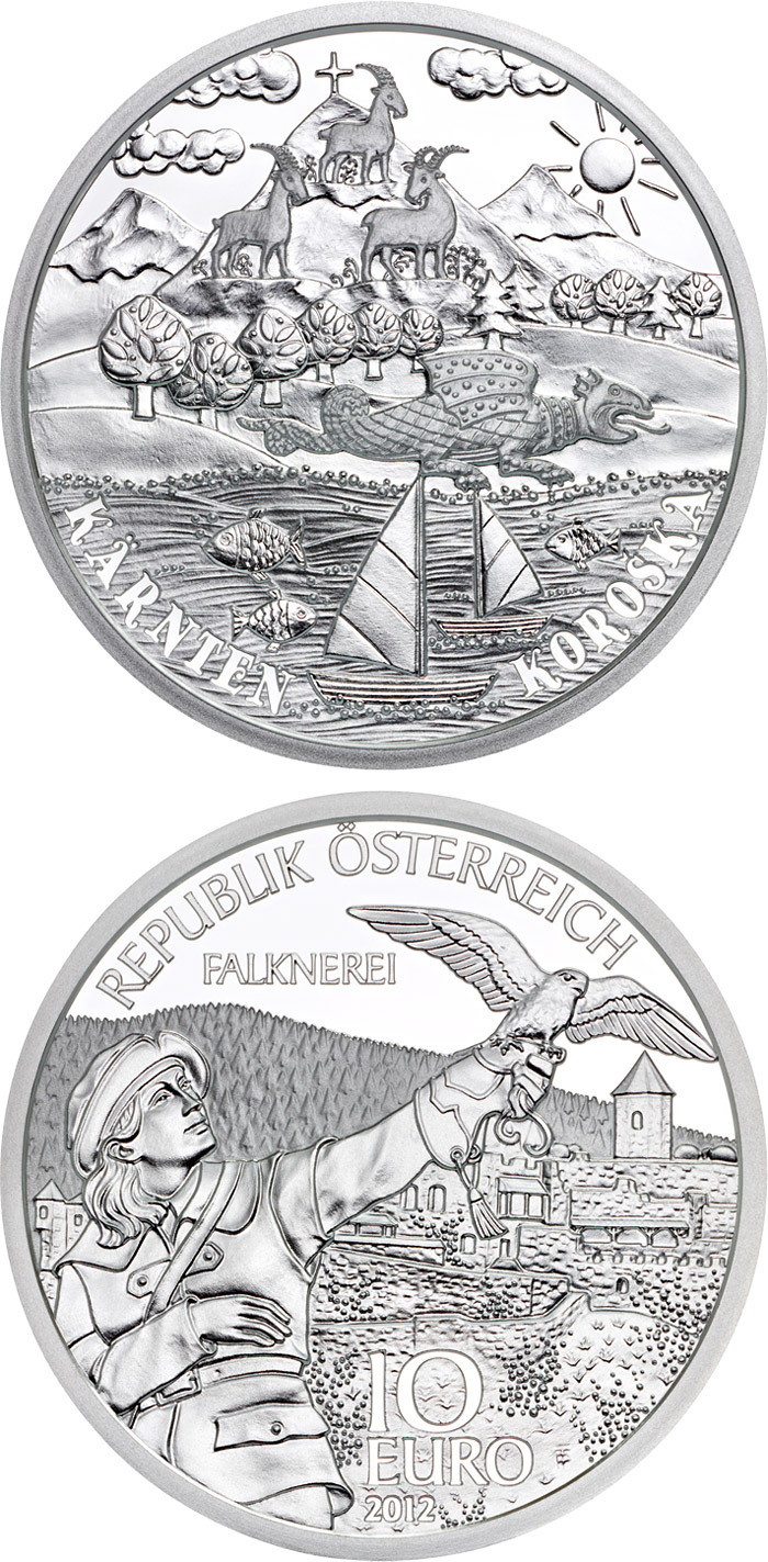 Image of Carinthia (Kärnten) – 10 euro coin Austria 2012.  The Silver coin is of Proof quality.