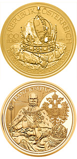 100 euro coin The Crown of the Austrian Empire  | Austria 2012