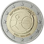 2 euro coin 10th Anniversary of the Introduction of the Euro | Austria 2009