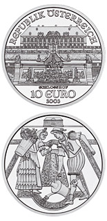 10 euro coin The Castle of Schlosshof | Austria 2003