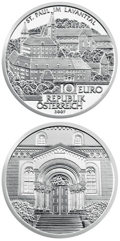 10 euro St. Paul im Lavanttal - 2007 - Series: Great Abbeys of Austria - Austria
