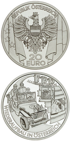 Image of 20 euro coin - The Post-War Period | Austria 2003