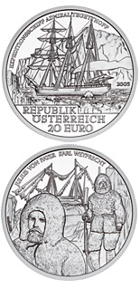 20 euro coin Admiral Tegetthoff-The Polar Expedition | Austria 2005