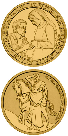 Image of 50 euro coin - Christian Charity | Austria 2003