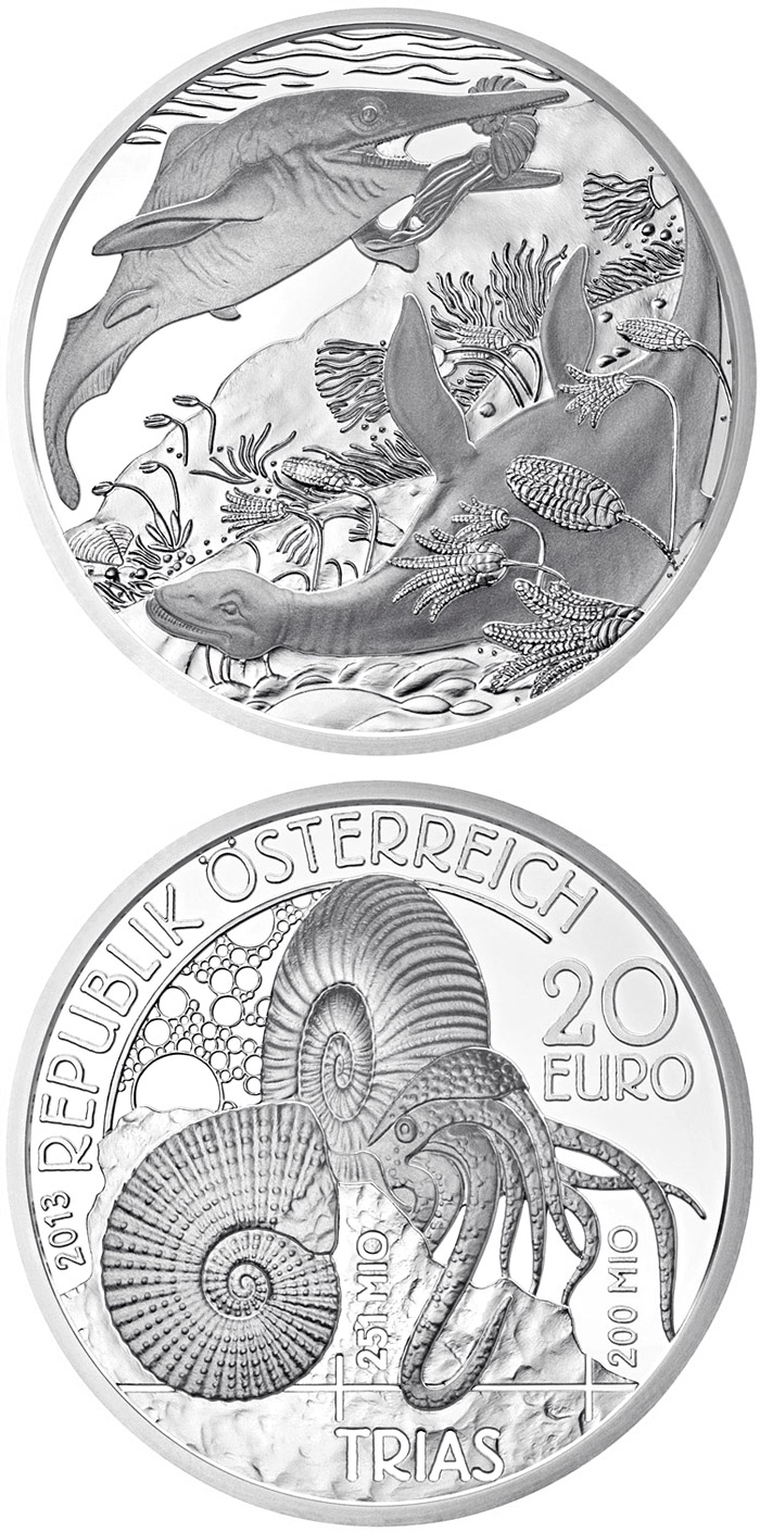 20 euro Trias - Life in the water - 2013 - Series: Prehistoric Life - Austria