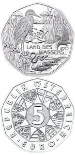 5 euro Land of Water - 2013 - Series: Silver 5 euro coins - Austria
