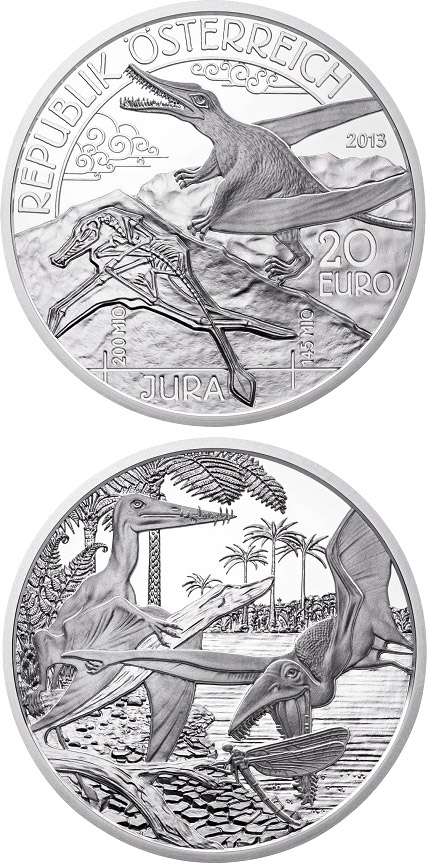 20 euro Jura - Life in the air - 2013 - Series: Prehistoric Life - Austria