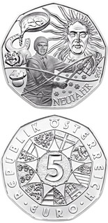 5 euro coin The New Year - Folklore | Austria 2014