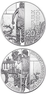 20 euro coin 25th Anniversary of the Fall of the Iron Curtain | Austria 2014