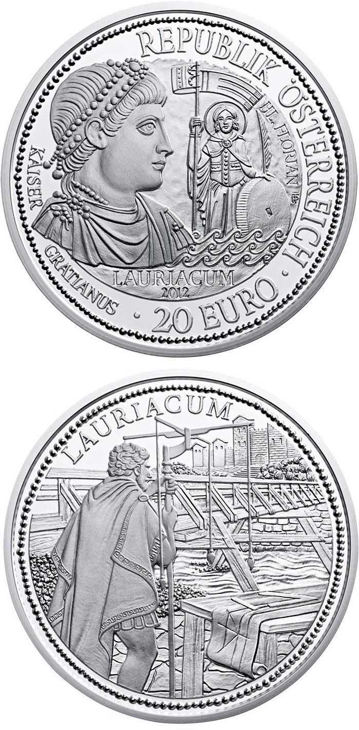 Image of a coin 20 euro | Austria | Lauriacum and the Limes | 2012