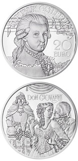 20 euro Amadeus: The Genius - 2016 - Series: Mozart: Wunderkind - Genius - Legend - Austria