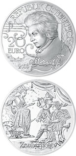 20 euro Mozart: The Legend - 2016 - Series: Mozart: Wunderkind - Genius - Legend - Austria