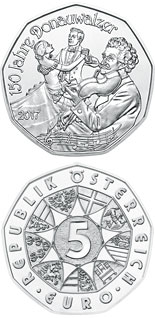 5 euro 150th Anniversary of the Blue Danube - 2016 - Series: Silver 5 euro coins - Austria