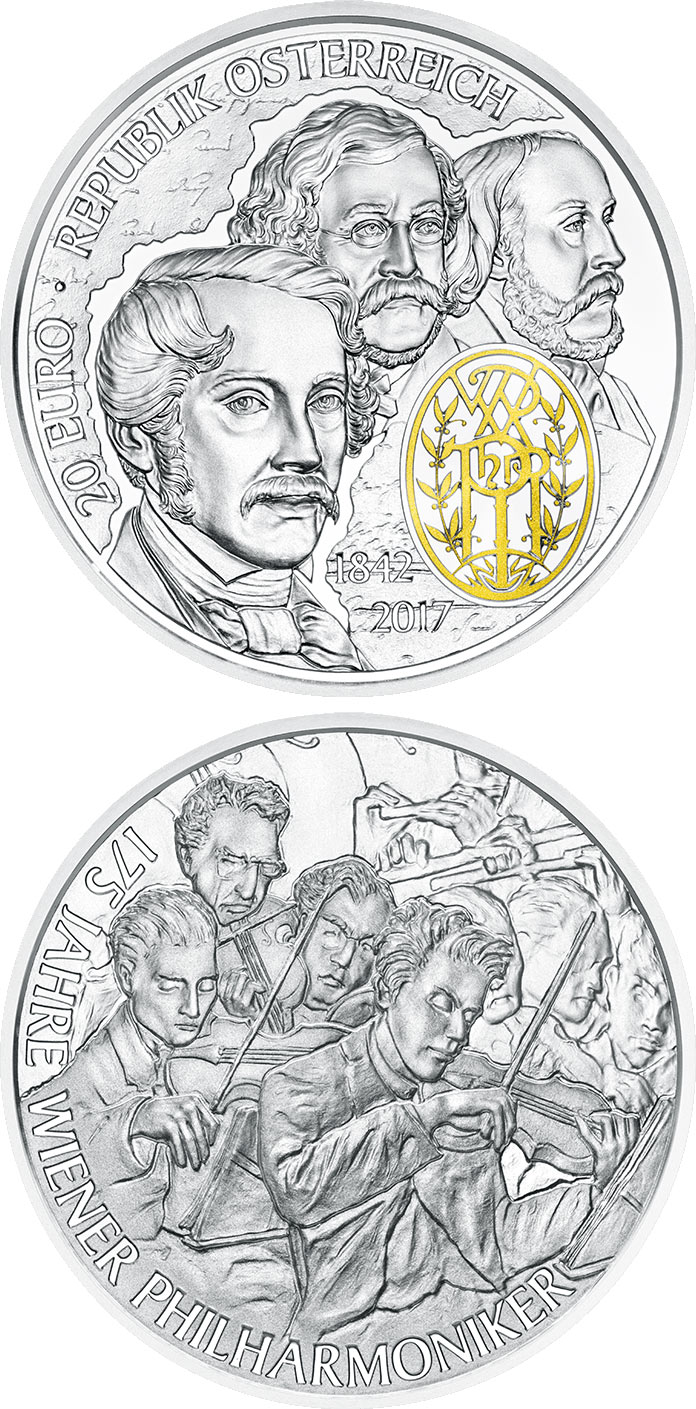 20 euro 175th Anniversary of the Vienna Philharmonic Orchestra - 2017 - Austria