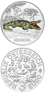 3 euro The Crocodile - 2017 - Series: Colourful Creatures - Austria
