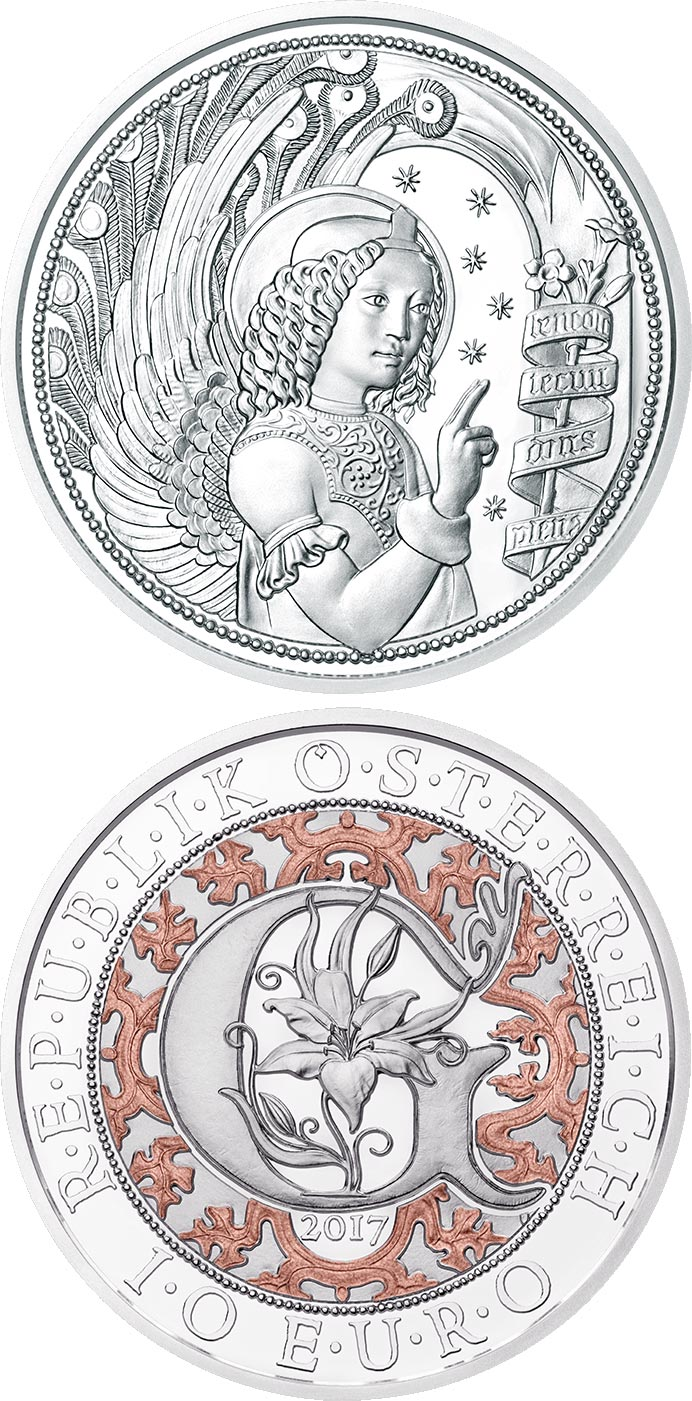 Image of a coin 10 euro | Austria | Gabriel – The Revealing Angel | 2017
