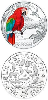 3 euro The Parrot - 2018 - Series: Colourful Creatures - Austria