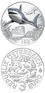 3 euro coin The Shark | Austria 2018