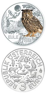 3 euro coin The Owl | Austria 2018