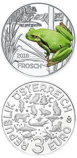 Image of a coin 3 euro | Austria | The Frog | 2018