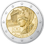 2 euro coin The Centenary of the Founding of the Republic of Austria | Austria 2018