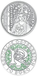 10 euro coin Raphael - The Healing Angel | Austria 2018