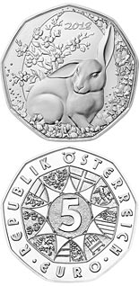5 euro coin The Easter Bunny | Austria 2018