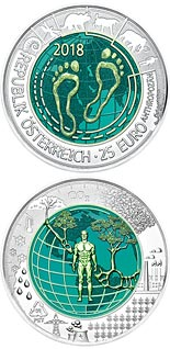 25 euro coin Anthropocene | Austria 2018