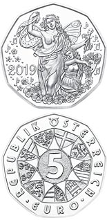 5 euro coin New Year coin 2019 | Austria 2018