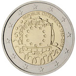 2 euro coin The 30th anniversary of the EU flag | Austria 2015