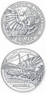 20 euro coin The Dream of Flight | Austria 2019