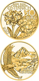 50 euro coin Alpine Treasures - High Peaks | Austria 2020