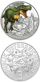 3 euro coin Tyrannosaurus Rex –