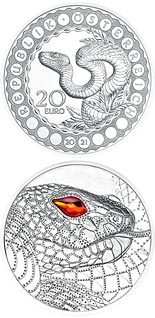 20 euro coin Australia – the Serpent Creator | Austria 2021