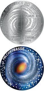 20 euro coin The Milky Way | Austria 2021