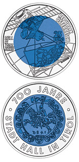 25 euro 700 Years City of Hall in Tyrol - 2003 - Series: Silver-Niobium 25 euro coins - Austria