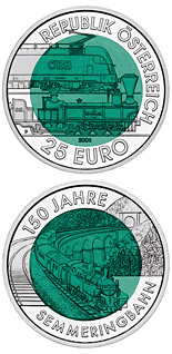 25 euro coin 150 Years Semmering Alpine Railway | Austria 2004