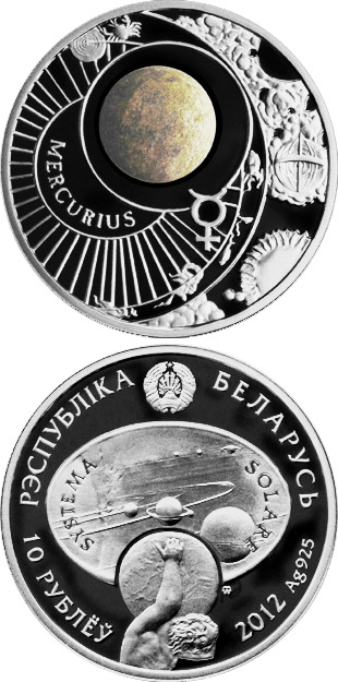 10 rubles Mercury - 2012 - Series: The Solar System - Belarus