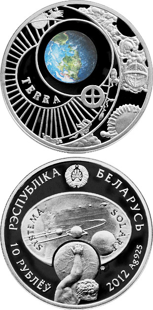 10 rubles Earth - 2012 - Series: The Solar System - Belarus