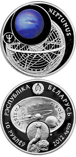 10 rubles Neptune - 2012 - Series: The Solar System - Belarus