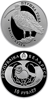 10 rubles Eurasian Curlew - 2011 - Series: Bird of the year - Belarus