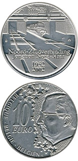 10 euro coin 50 years North South Connection in Brussels | Belgium 2002