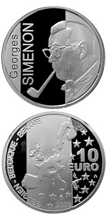 10 euro coin 100. birthday of Georges Simenon | Belgium 2003